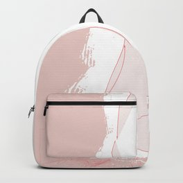 Blood, Sweat & Flowers - Red and White Simple Girl Drawing Backpack