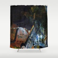 blues Shower Curtains featuring Blues by  Agostino Lo Coco