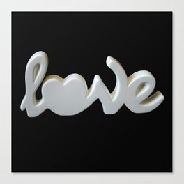 Love is the Word Canvas Print
