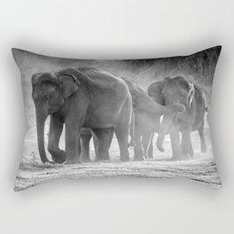 Asian Elephants | Minneriya National Park | Sri Lanka Rectangular Pillow