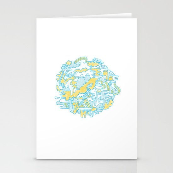 Spaghetti Mountain Stationery Cards