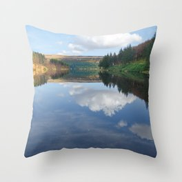 Ladybower reservoir Throw Pillow