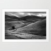 valley, fall Art Print