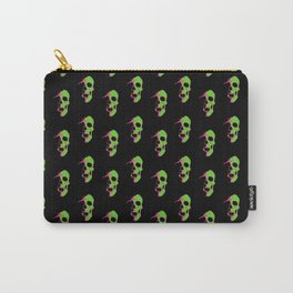 Skull - Lime Carry-All Pouch