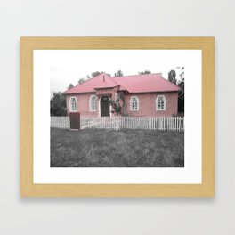 Nothing Like a Pink House  Framed Art Print