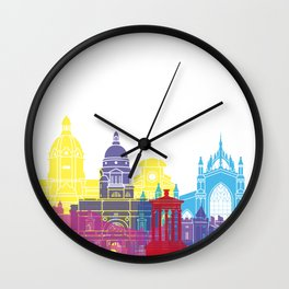 Edinburgh skyline pop Wall Clock