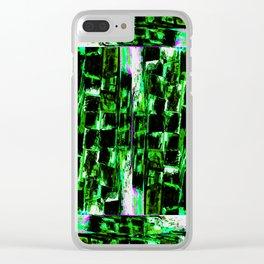 The Thrash Craft Coaster Mandala (Winter Green Flavor) Clear iPhone Case