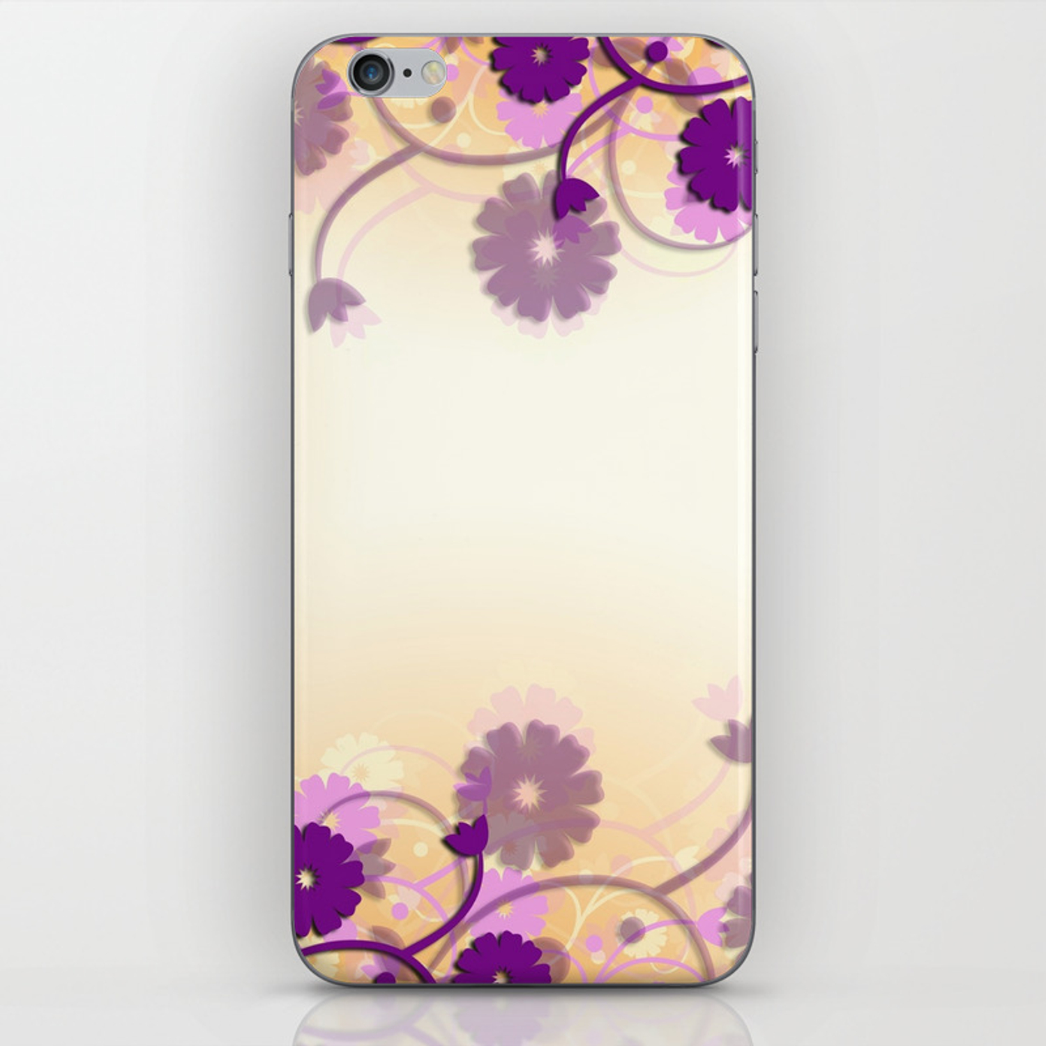 Background Purple Floral Iphone Skin By Marieclay Society6