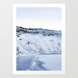 Kerid Crater In Winter, Iceland Art Print