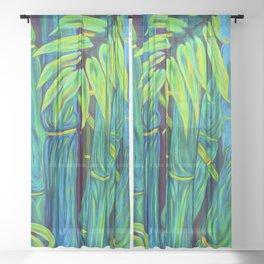 ʻOhe Polū - Blue Bamboo Sheer Curtain