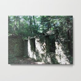 Old Stone Wall with Windows Metal Print