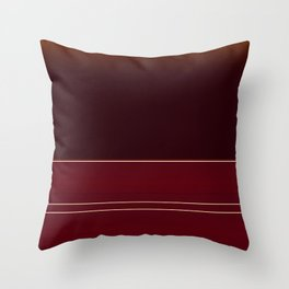 Rich Burgundy Ombre with Gold Stripes Throw Pillow