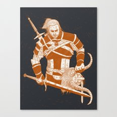 A Witcher and Krampus Canvas Print