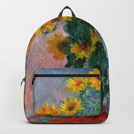 Bouquet of Sunflowers - Claude Monet Backpack