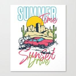 Summertime Sunset Drive Canvas Print