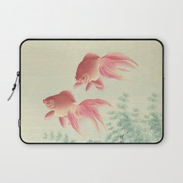 Goldfish Vintage Japanese Woodblock Print Laptop Sleeve