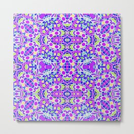 Arabesque kaleidoscopic Mosaic G514 Metal Print