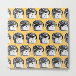 Minifigure Pattern – Yellow Metal Print