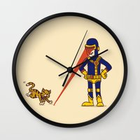 cyclops Wall Clocks featuring Evil Cyclops by Rodrigo Ferreira