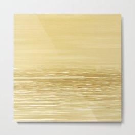 Seascape Gold Metal Print