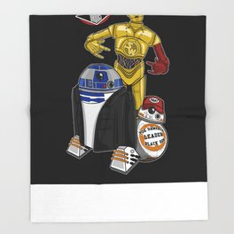 Beastie Droids Throw Blanket