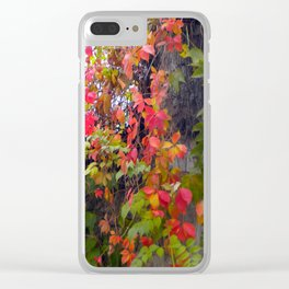 Bright Leaves Clear iPhone Case