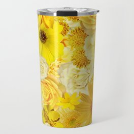 Yellow Rose Bouquet with Gerbera Daisy Flowers Travel Mug