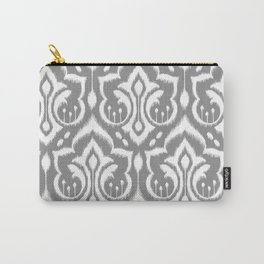 Ikat Damask Gray Carry-All Pouch