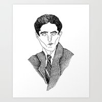 kafka Art Prints featuring Kafka by Sparganum