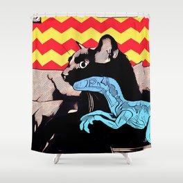 A Boy and his Dinosaur Shower Curtain