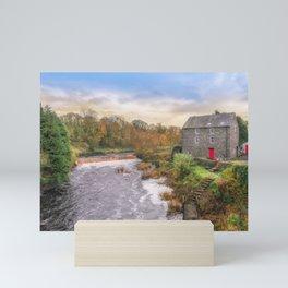 The Old Autumn Mill Mini Art Print
