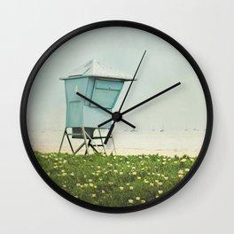Santa Barbara Lifeguard Stand  Wall Clock