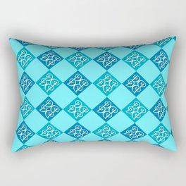 Aqua Angelique Rectangular Pillow