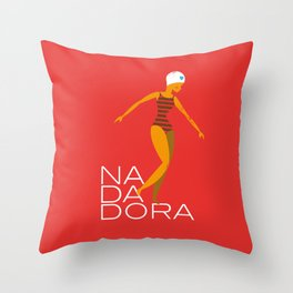 Nadadora Throw Pillow