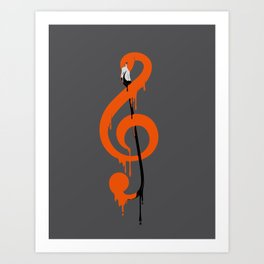 flamenco music Art Print
