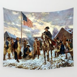 Washington At Valley Forge Wall Tapestry