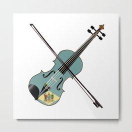 Delaware State Fiddle Metal Print