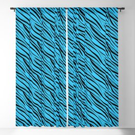 Abstract Black-blue textile Blackout Curtain