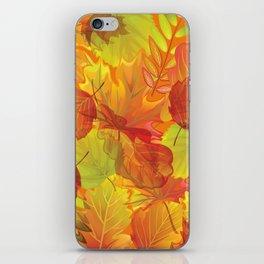 Autumn leaves #4 iPhone Skin