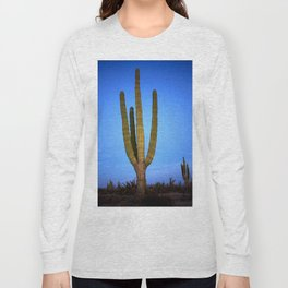 Blue cactus Long Sleeve T-shirt