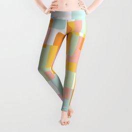 Pastel Geometric Shape Collage Leggings