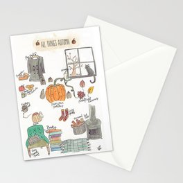 All Things Autumn Stationery Cards