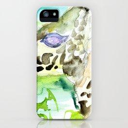 GIRAFFE - watercolor portrait.4 iPhone Case