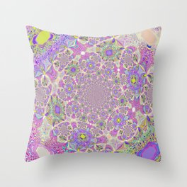 Pretty Lavender Garden Throw Pillow