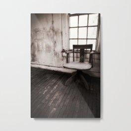 Old Chair (redux) Metal Print