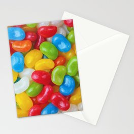 Yummy Colorful Candy Jelly Beans Stationery Cards