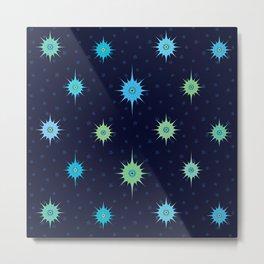 Stars Bright in a Midnight Sky (pattern) Metal Print