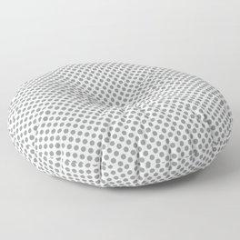 Neutral Gray Polka Dots Floor Pillow