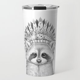 Raccoon apache Travel Mug