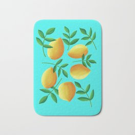 Lemons on Teal Bath Mat
